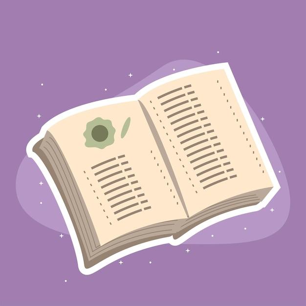 Open boek leren Premium Vector