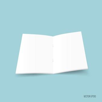 Open boek op blauwe achtergrond