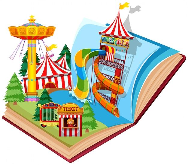 Open boek waterpark thema