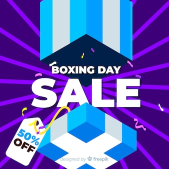 Open box boxing day sale achtergrondkleur