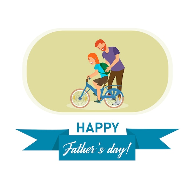 Open brief met een inscriptie happy fathers day.