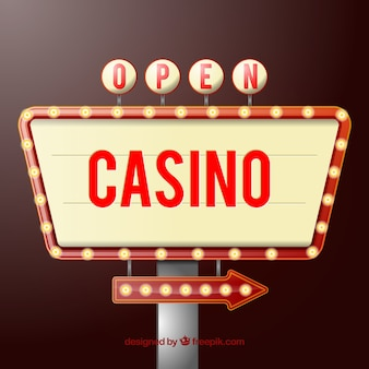 Open casino teken Premium Vector