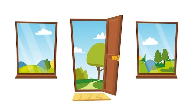 Open deur en ramen