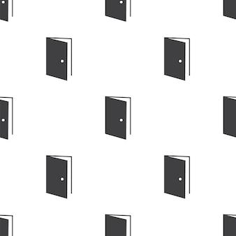 Open deur, vector naadloos patroon, bewerkbaar kan worden gebruikt voor webpagina-achtergronden, opvulpatronen