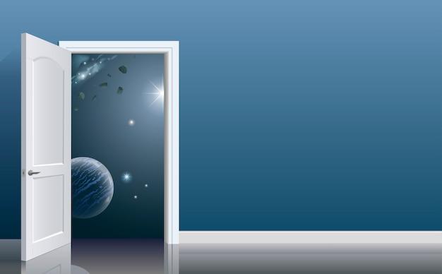 Open deuren in de ruimte