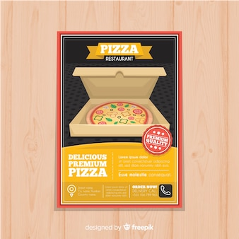 Open doos pizza folder sjabloon