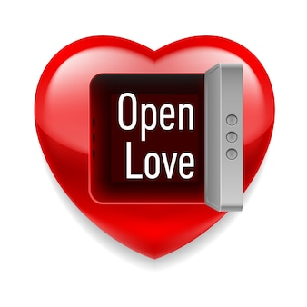 Open het liefdesbeeld