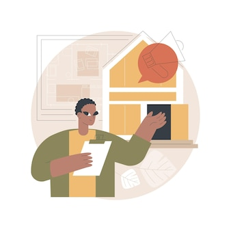 Open huis illustratie