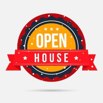 Open huis label
