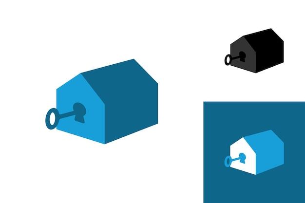 Open huis logo sjabloon premium vector