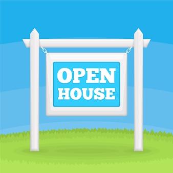 Open huis te koop buitenshuis