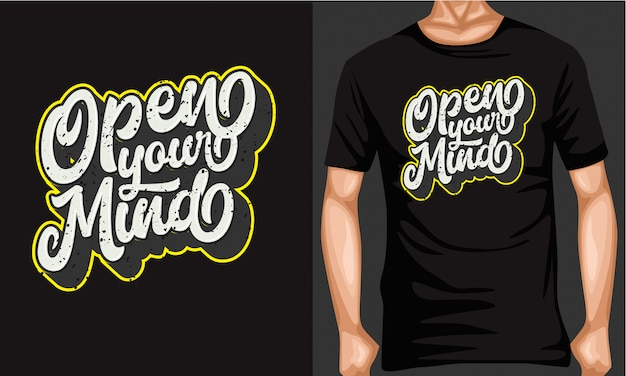 Open je geest belettering typografie