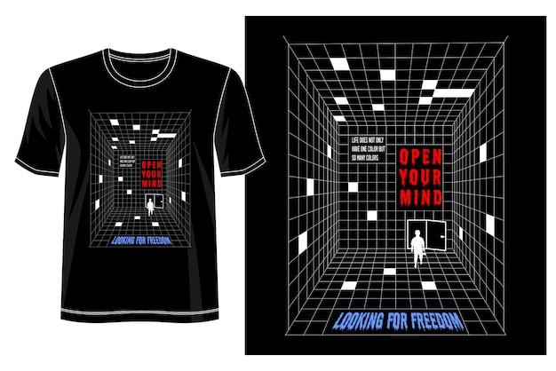 Open je geest t-shirt ontwerp