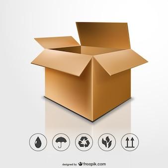 Open kartonnen doos