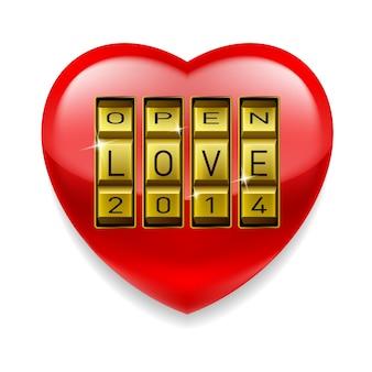 Open liefdehart