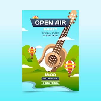Open lucht partij poster concept