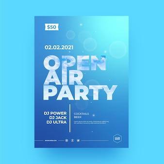 Open lucht partij poster sjabloon