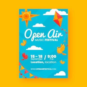 Open lucht partij poster thema