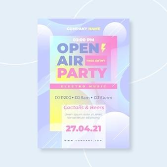 Open lucht partij poster