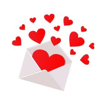 Open romantische envelop