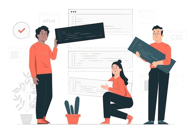 Open source concept illustratie
