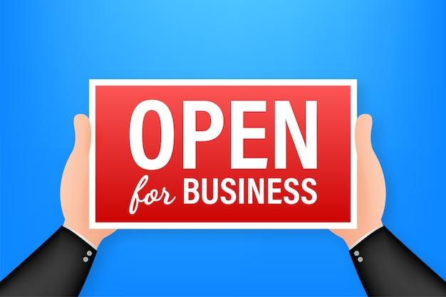 Open voor zakelijke teken