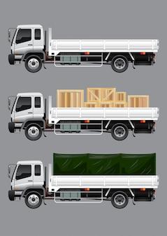 Open vrachtvrachtwagen