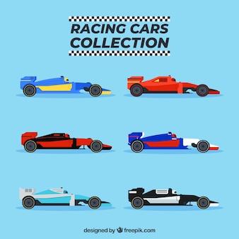 Open wiel raceauto's collectie