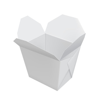 Open witte chinese fastfoodcontainer