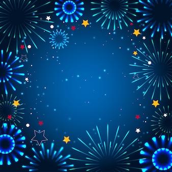 Open witte doos met een geschenk. pictogram op een blauwe achtergrond.