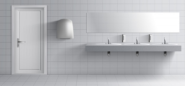 Openbaar toiletruimte-interieur