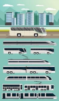 Openbaar vervoer orthogonaal concept