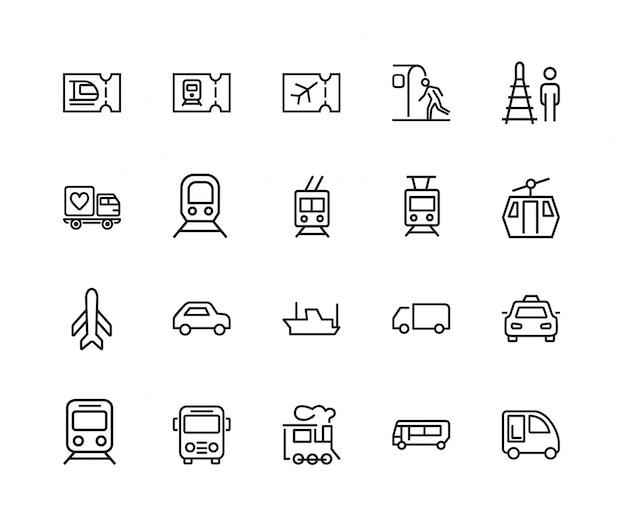 Openbaar vervoer pictogramserie