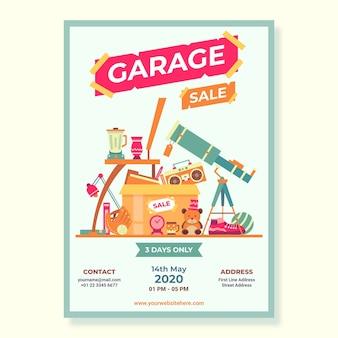Openbare garage sale poster sjabloon
