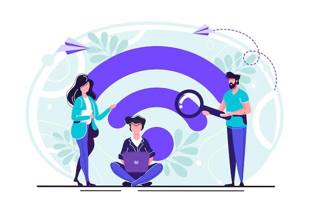 Openbare gratis draadloze verbinding
