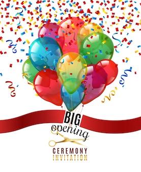 Openingsceremonie uitnodiging achtergrond