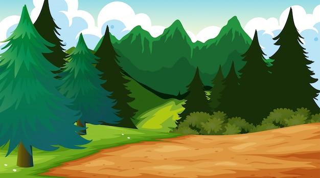 Openlucht houten scène als achtergrond
