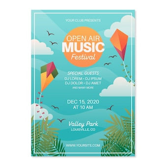 Openlucht muziekfestival poster