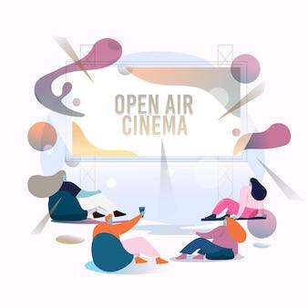 Openluchtbioscoop abstract ontwerp