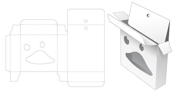 Opknoping doos met eendengezicht stencil gestanst sjabloon