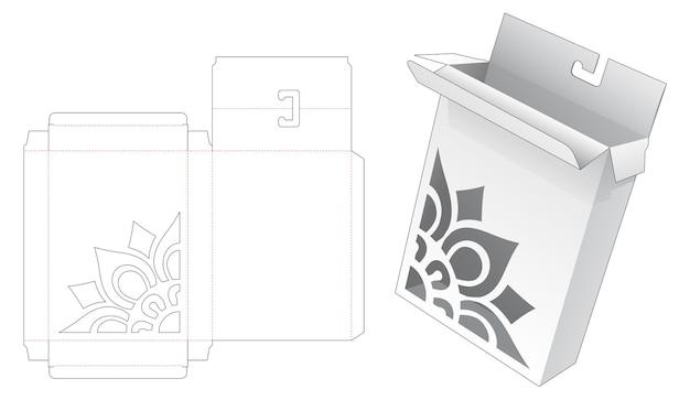 Opknoping doos met gestencilde mandala patroon gestanst sjabloon