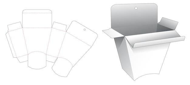 Opknoping gat trapeziumvormige verpakking gestanst sjabloon