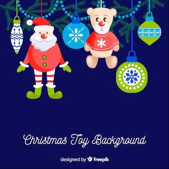 Opknoping ornamenten kerstmis achtergrond