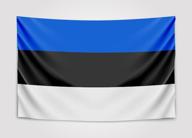Opknoping vlag van estland. republiek estland. nationale vlag