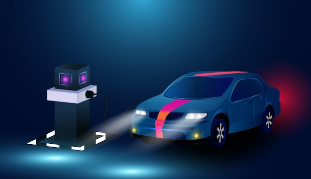 Oplaadstation elektrische auto electromobile