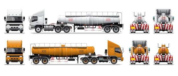 Oplegger zuur tankwagen.
