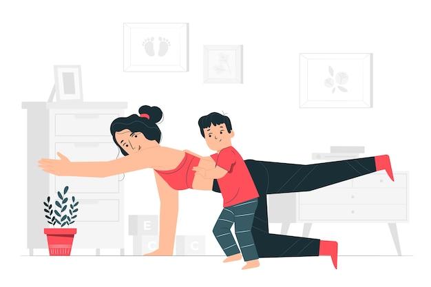 Opleiding thuis concept illustratie