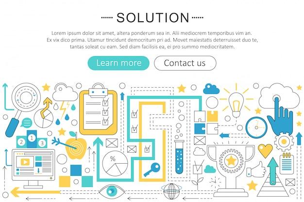 Oplossing platte lijn concept