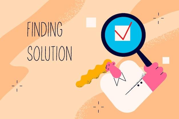 Oplossing vinden in bedrijfsconcept