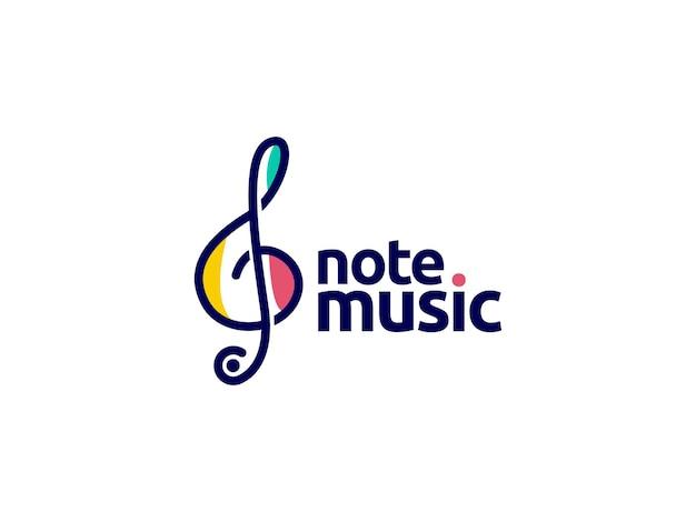 Opmerking muziek logo ontwerpconcept